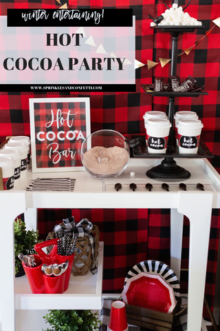 Winter Entertaining! Hot Cocoa Bar Cart!