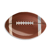 17 inch plastic tray printed to look like football
