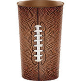 22 ounce plastic football cups, football party style