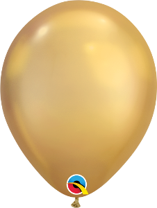 "11"" sold latex chrome gold for a gold sheen balloon 