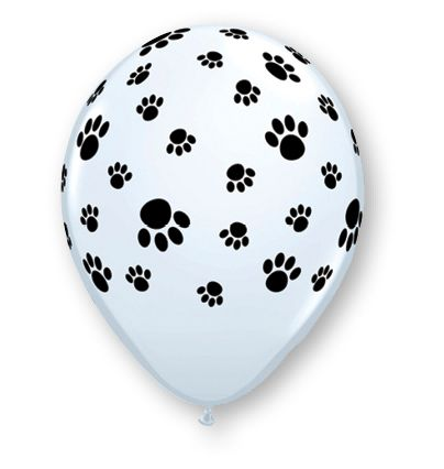 Black & White Puppy Dog Print Balloons (10 pack)
