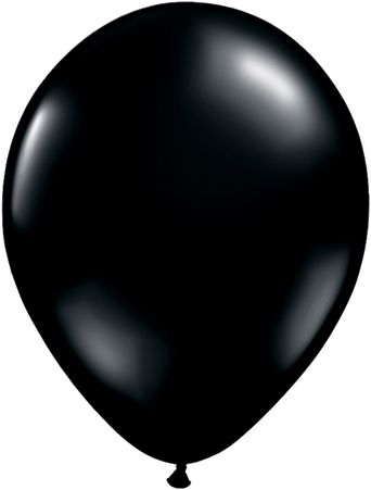 "11"" Solid black latex balloon"