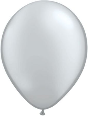 Silver latex balloon