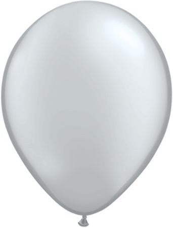 11'' Silver latex balloon