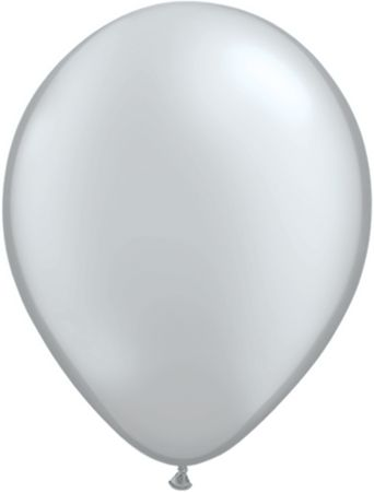"11"" Latex Balloon Silver"