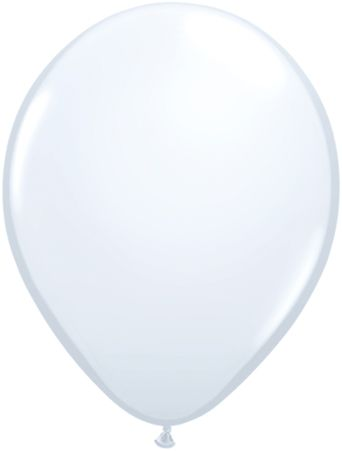 "11"" white solid latex balloon"
