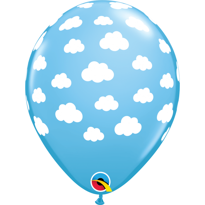"11"" Latex Blue Cloud Balloon (10 pack)"