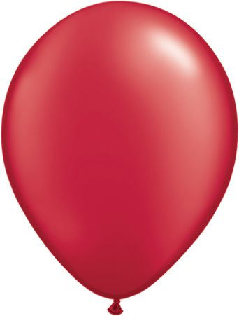 "11"" Latex Balloon Pearl Ruby Red"