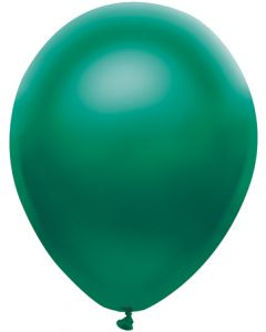 "11"" latex satin forest green - great christmas green balloon"