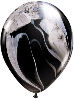"11"" Latex Specialty Balloon Black Marble (5 pack)"