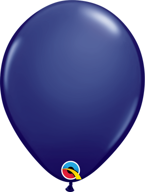 "11"" latex solid navy balloon"