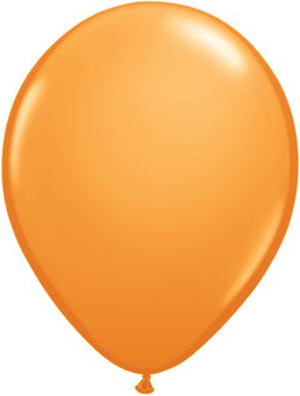"11"" solid orange latex balloon"