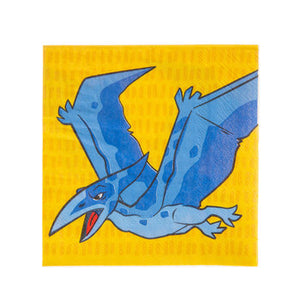blue and yellow, Dinosaur Dessert Napkins, theme party