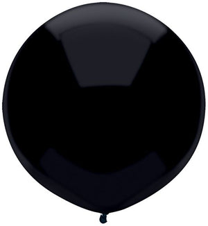 "17"" black latex balloon"