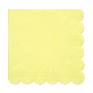 yellow scalloped edge napkin