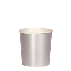 Silver Simply Solids Tumbler Cup