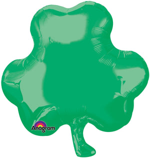 Solid Green shamrock balloon | St. Patrick's Day or St. Patty's Day Party