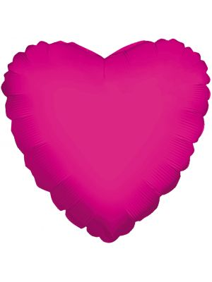 "18"" hot pink foil heart balloon"