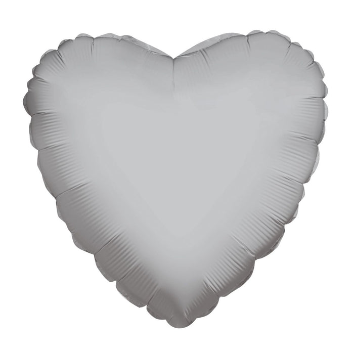 "18"" Silver Heart Balloon"