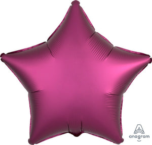"18"" Luxe Pomegranate Pink Star Balloon"