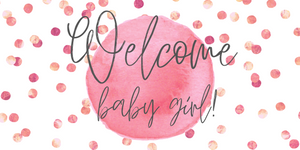 Polka Dot Welcome Baby Girl Banner