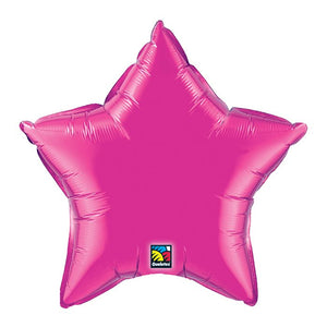 "20"" Magenta Pink Star Balloon"