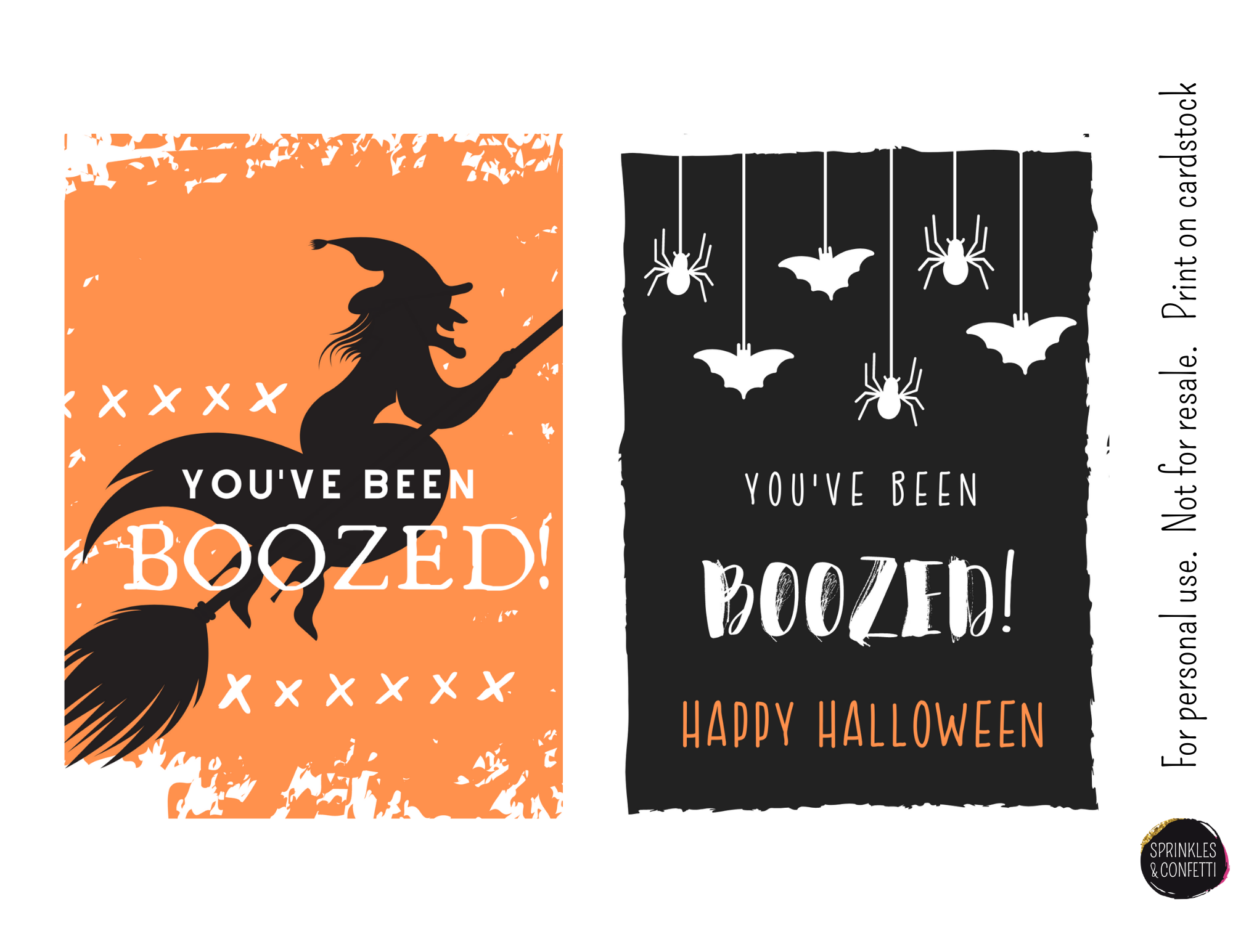 Halloween You've Been Boozed Printable