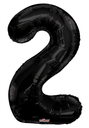 "34""- black-foil-#-2-balloon-birthday party decorations-21st-birthdays"