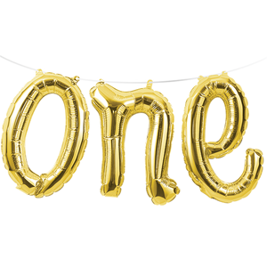 One Script Balloon, Gold color