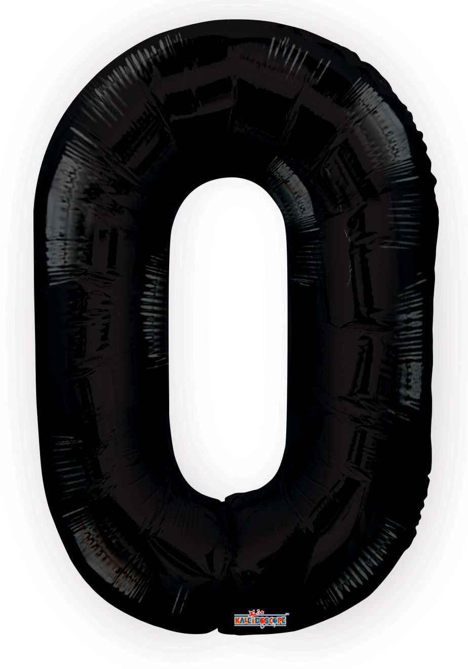 Large black number zero foil balloon 34#