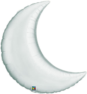 large silver foil moon balloon