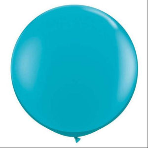"36"" Jumbo Latex Balloon Tropical Teal"