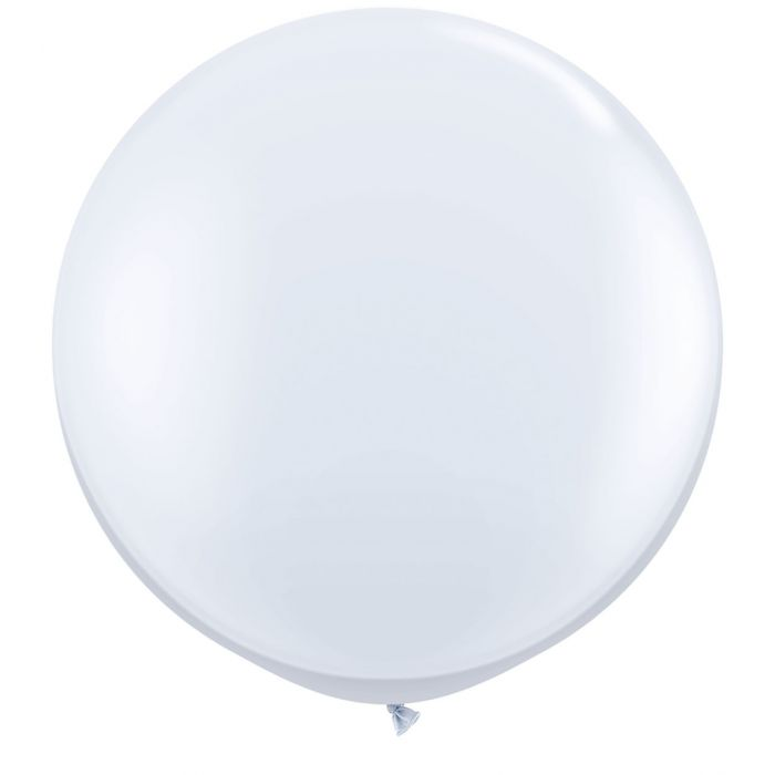 "36"" Jumbo Latex Balloon White"