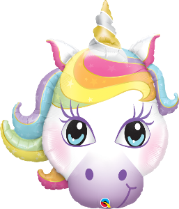 large unicorn party balloon, cute unicorn, birthday party
