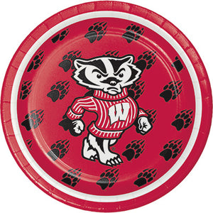 "Wisconsin Badger dessert 7"" plate."