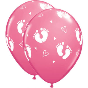"11"" Latex Baby Pink Balloon (10 pack)"