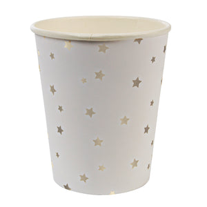 Toot Sweet Silver Star foil party cup