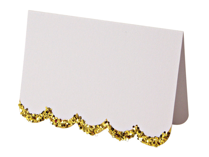 Gold Glitter Placecards
