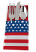 patriotic utensil wrap, american flag, red white and blue