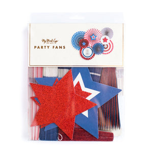 4th of July Stars & Stripes Party Fans