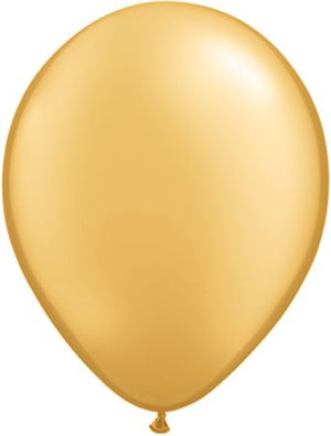 "11"" gold latex balloon"