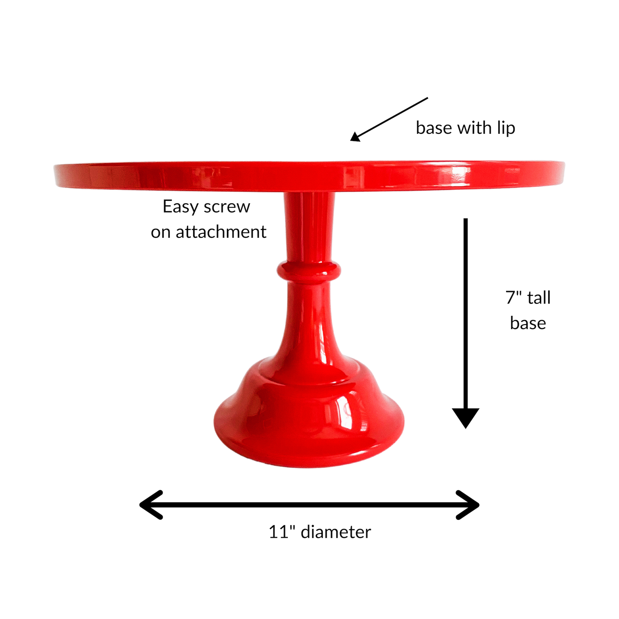 Red Cake Stand