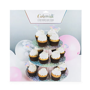 beautify pink iridescent cupcake stand