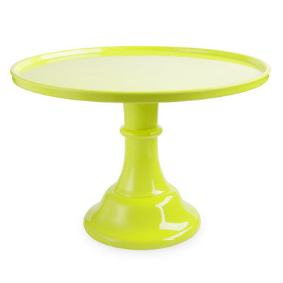 solid lime green cake stand perfect for birthdays, baby showers, bachelorette parties, bridal showers and more!