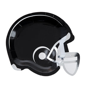 Black Sports helmet appetizer plate