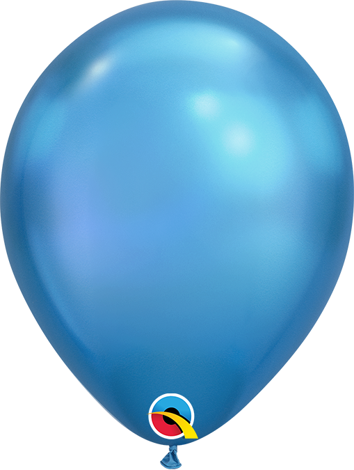 "7"" Chrome Blue Latex Balloon"