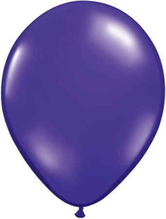 "9"" Purple solid latex balloon"