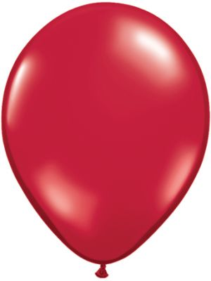 "11"" Ruby Red solid latex Balloon"