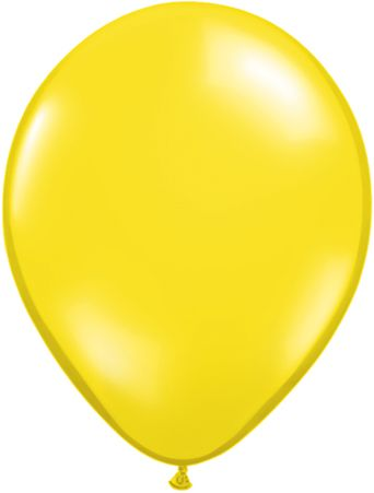 "9"" Bright yellow solid latex balloon"