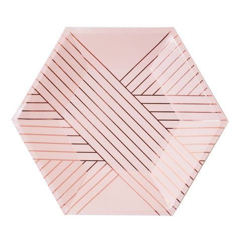 harlow-and-grey-pink-hexagon-plate-bridal-baby-shower-party-supplies